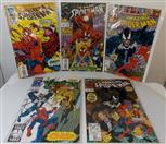 "MARVEL COMICS, 4 ""THE AMAZING SPIDER-MAN"", AND 1 ""VENOM"" COMIC BOOKS"